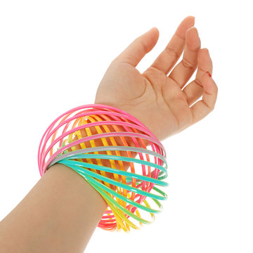 PVC Rainbow Flow Rings Magic Armband Flowtoys Oefening Artefact Creatief Speelgoed Gift