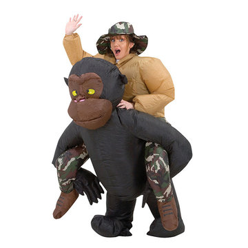 Inflatable Toys Costume Adult Suit Blowup Orangutans Ride Outfit Party Clothing With Cap