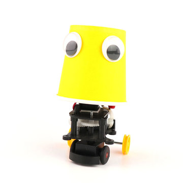 DIY Educational Electric Automatic Obstacle Avoidance Robot Scientific Invention Toys