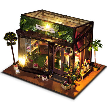 T-Yu TD19 Flower Dance House DIY poppenhuis met deksel licht geschenk collectie Decor