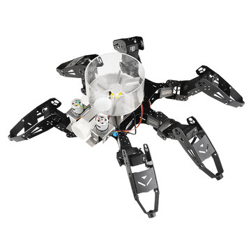 XIAO R DIY 6-benen STM32 Smart Ball Shooting Walking RC Robot Educatieve set