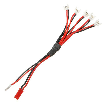 2 In 5 JST Plug Connector Met Wire Cable 15cm Voor RC Helicopter Model
