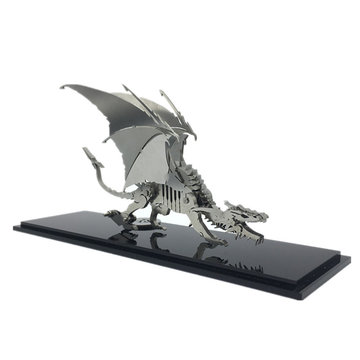 Staal Warcraft 3D Puzzel DIY Vergadering Dinosaurus Speelgoed DIY Rvs Model Building Decor 13 * 4.5 * 11.7 cm
