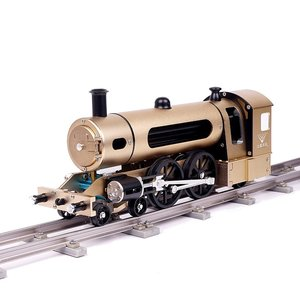 Teching Engine Stoomtrein Model Met Pathway Volledige aluminiumlegering Model Gift Collection STEM-speelgoed