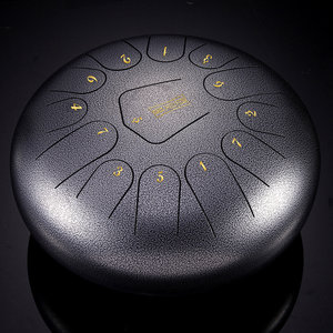 HLURU 12 '' Steel Tongue Drum Handpan 13 Notes Handtankdrum met tas en drumstick cadeau