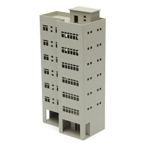 1/87 Light Gray Outland Modellen Modern Tall Business Office Building Voor Sandbox