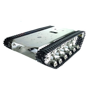 RC Robot Car Metal Tracked Tank Chassis Metal Crawler Belt With DC 350 Motor