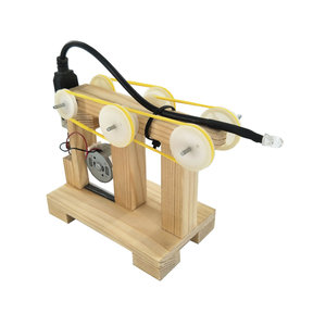DIY Hand Handleiding Crank Generator Kit Kind Training Materialen Motor Handgemaakte Science Invention Speelgoed