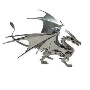 Staal Warcraft DIY 3D-puzzel Dragon Toys roestvrij staal Model Building Decor 16 * 5.3 * 14cm